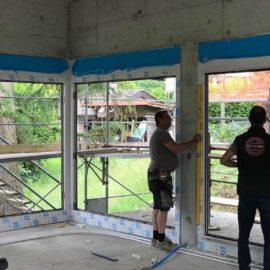 Réalisations en menuiseries extérieures 2 villas jumelées saint- aubin ( NE) 2018